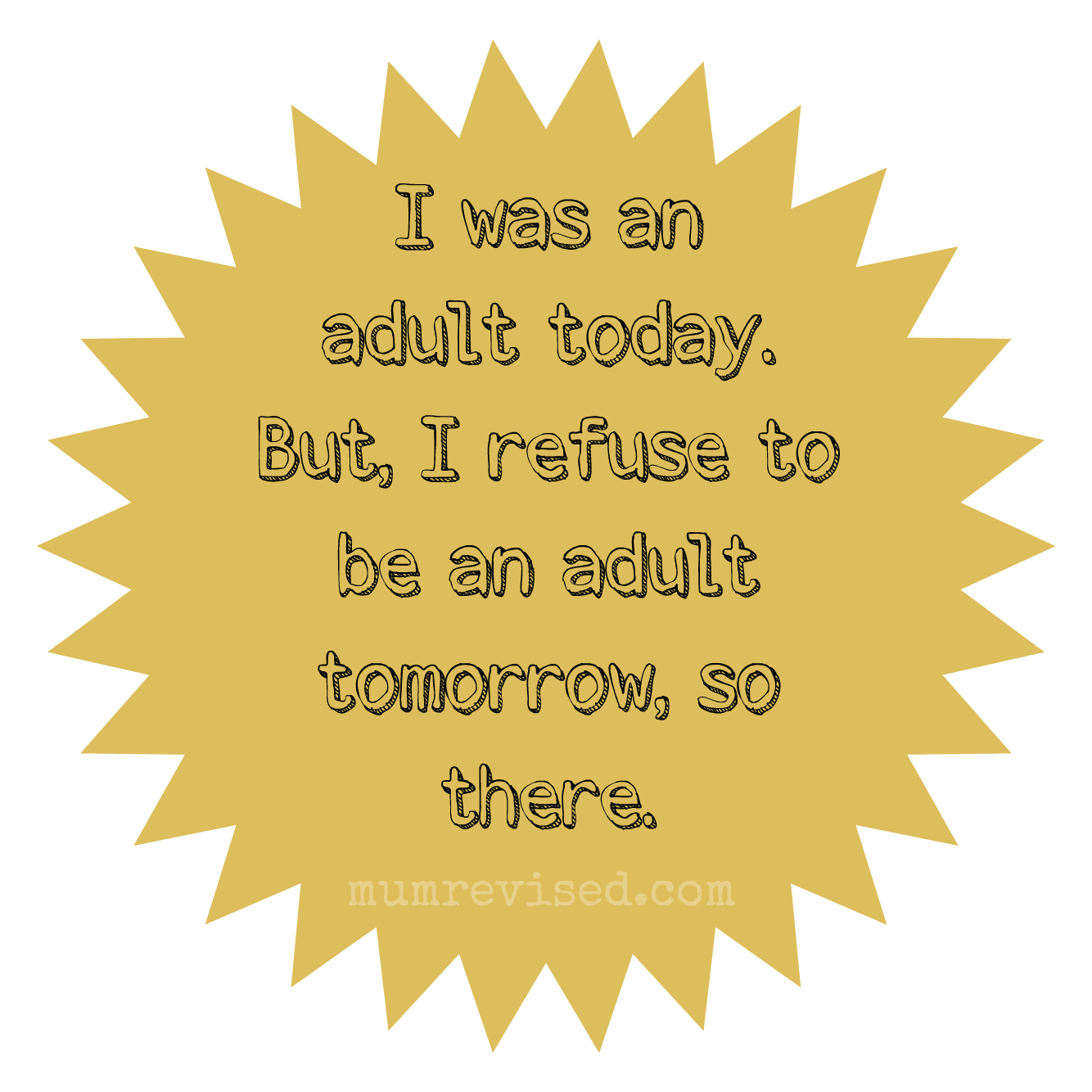 adulting, sticker, adult mum revised